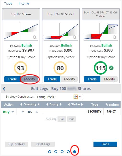 modify a trade